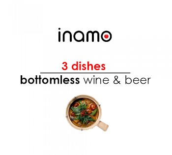 3 dishes with bottomless wine & beer
