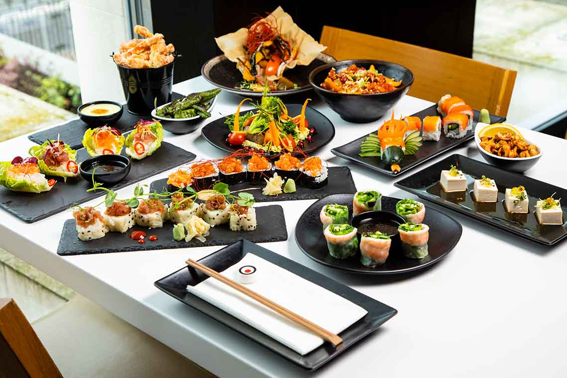 Unlimited Asian Tapas & Sushi with free-flowing wine or beer, only £42