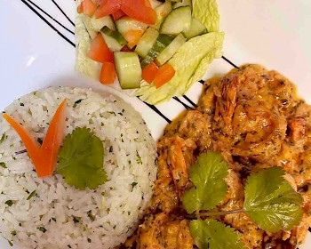Tamarind King Prawns with Coconut Rice